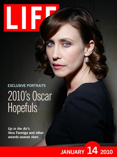 Up In The Air's Vera Farmiga on the cover of LIFE.