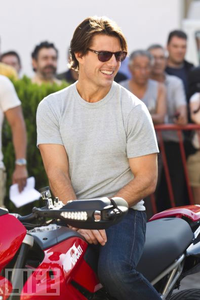 "Tom Cruise on the European tour for ""Knight and Day"""
